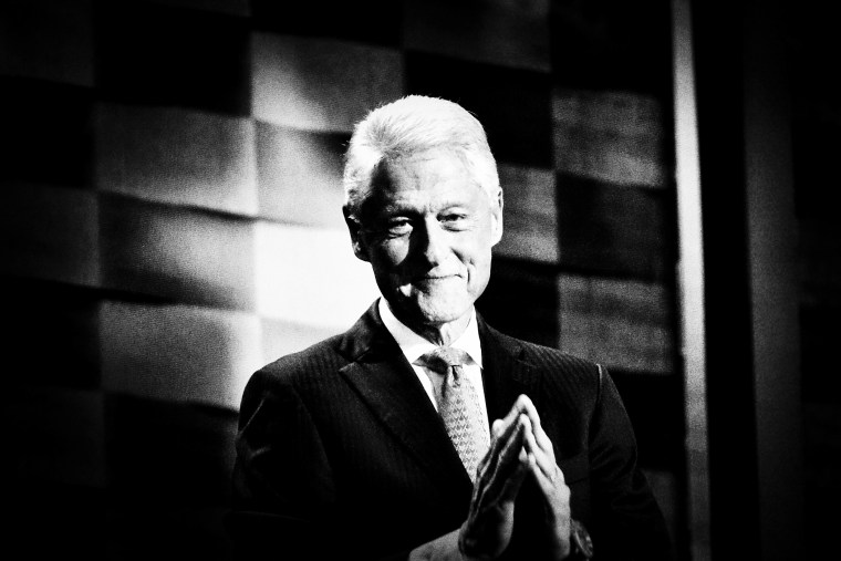 Former President Bill Clinton greets the audience at the Democratic National Convention at the Wells Fargo Center, July 26, 2016 in Philadelphia, Penn. (Photo by Mark Peterson/Redux for MSNBC)
