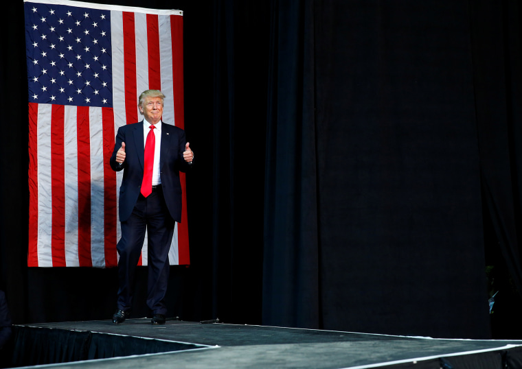 Republican U.S. presidential nominee Donald Trump attends a campaign rally at the Erie Insurance Arena in Erie, Penn., Aug. 12, 2016. (Photo by Eric Thayer/Reuters)