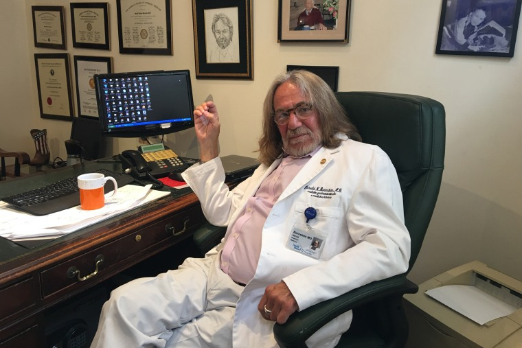 Dr. Harold Bornstein in his office. (Photo by NBC news)