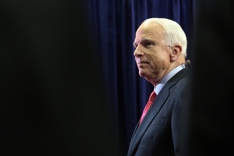 U.S. Sen. John McCain (R-AZ) attends the third day of the Republican National Convention at the Tampa Bay Times Forum on Aug.. 29, 2012 in Tampa, Fla. (Photo by Spencer Platt/Getty)