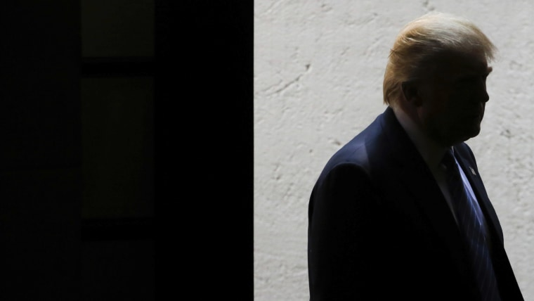 US Republican presidential candidate Donald Trump is seen during a press conference at Los Pinos on Aug. 31, 2016 in Mexico City, Mexico. (Photo by Hector Vivas/LatinContent/Getty)