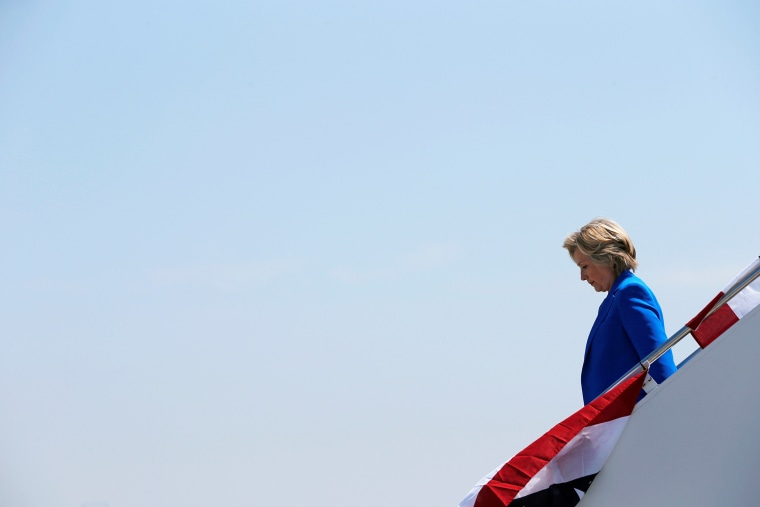 U.S. Democratic presidential candidate Hillary Clinton arrives at the airport in Charlotte, N.C., Sept. 8, 2016. (Photo by Brian Snyder/Reuters)