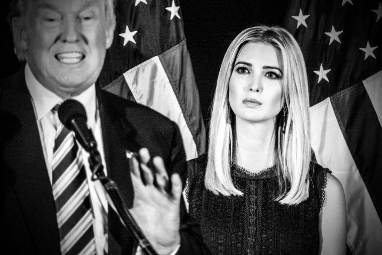 Ivanka and Donald Trump in Aston, Pa. where they outlined Trump's proposal on childcare on Sept. 13, 2016. (Photo by Mark Peterson/Redux for MSNBC)