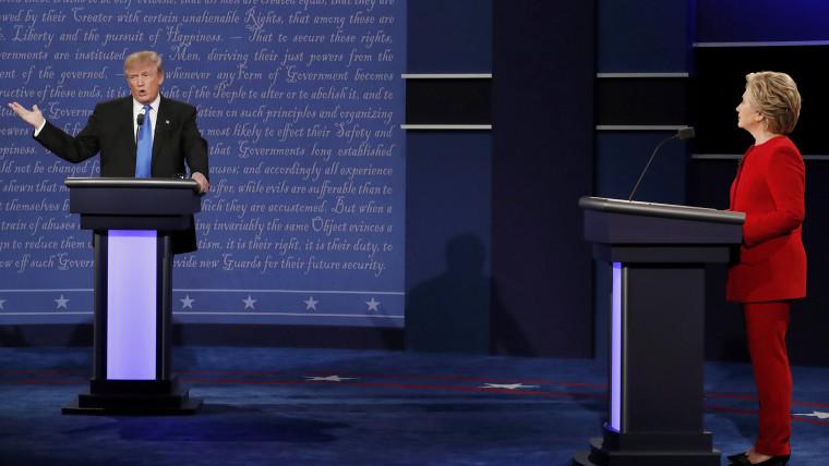 Republican presidential nominee Donald Trump speaks during the first presidential debate at Hofstra University in Hempstead, N.Y. on Sept. 26, 2016. (Photo by Lucas Jackson/Reuters)