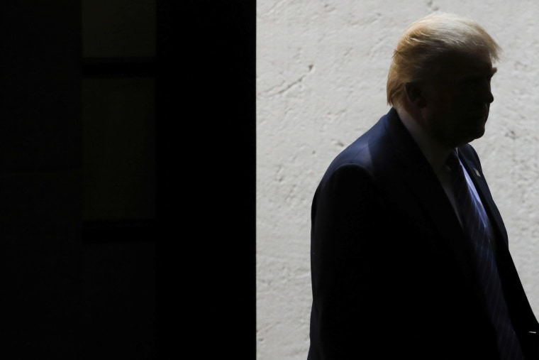 Republican presidential candidate Donald Trump is seen during a press conference at Los Pinos on Aug. 31, 2016 in Mexico City, Mexico. (Photo by Hector Vivas/LatinContent/Getty)