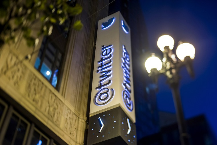 Twitter Inc. sign is displayed outside of the company's headquarters in San Francisco, Calif. (Photo by Paul Morris/Bloomberg/Getty)