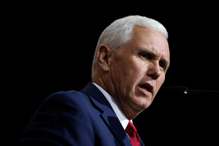 Republican U.S. vice presidential nominee Mike Pence speaks at a campaign rally, Oct. 22, 2016, in Cleveland, Ohio. (Photo by Jonathan Ernst/Reuters)