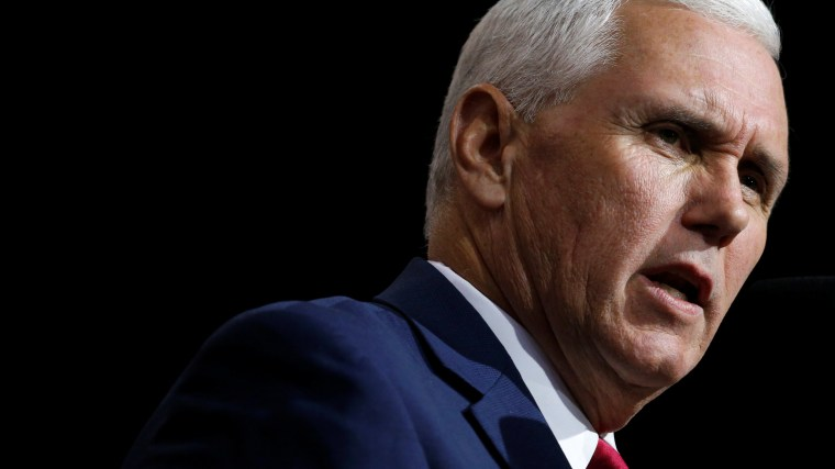 Republican U.S. vice presidential nominee Mike Pence speaks at a campaign rally, Oct 22, 2016, in Cleveland, Ohio. (Photo by Jonathan Ernst/Reuters)