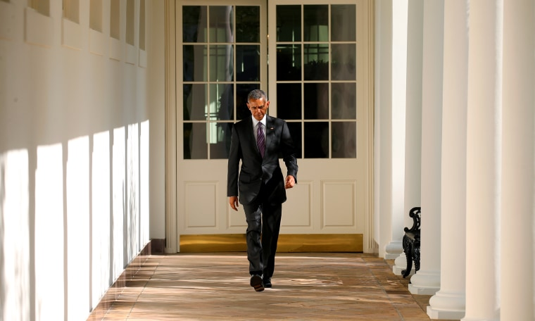 U.S. President Barack Obama walks the Colonnade toward the Oval Office of the White House in Washington on election day, Nov. 8, 2016. (Photo by Kevin Lamarque/Reuters)