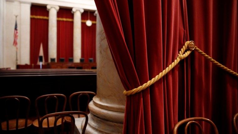 Red velvet drapes hang at the back of the courtroom at the U.S. Supreme Court building in Washington, June 20, 2016. (Photo by Jonathan Ernst/Reuters)
