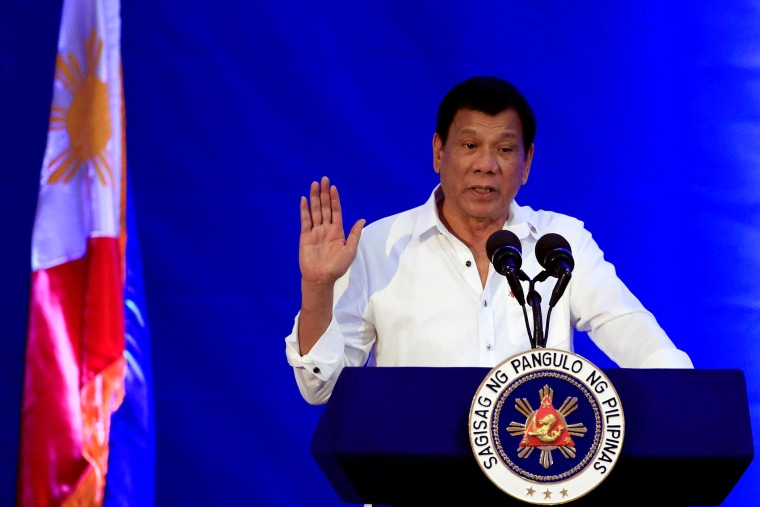 Philippine President Rodrigo Duterte gestures while delivering a speech during the 80th National Bureau of Investigation (NBI) founding anniversary at the NBI headquarters in metro Manila, Philippines on Nov. 14, 2016. (Photo by Romeo Ranoco/Reuters)