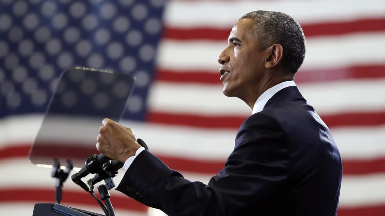 President Barack Obama speaks at MacDill Air Force Base in Tampa, Fla., Dec. 6, 2016, about the administration's approach to counterterrorism campaign. (Photo by Carolyn Kaster/AP)