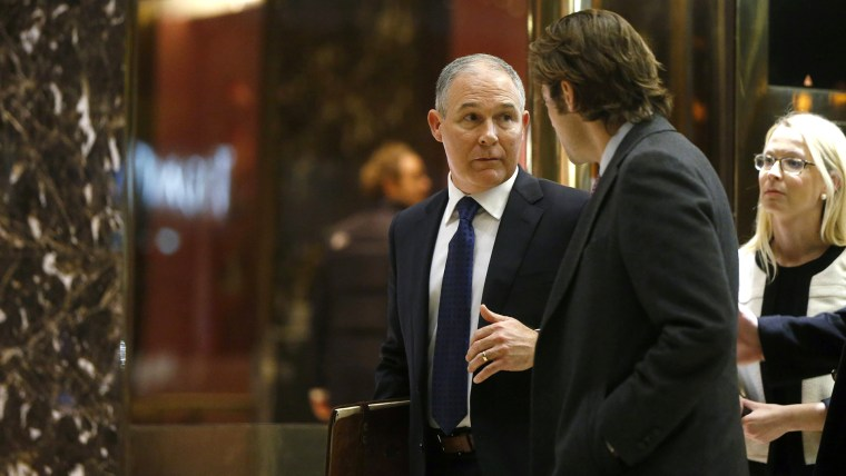 Oklahoma Attorney General Scott Pruitt departs after a meeting with U.S. President elect Donald Trump at Trump Tower New York, N.Y., on Nov. 28, 2016. (Photo by Lucas Jackson/Reuters)