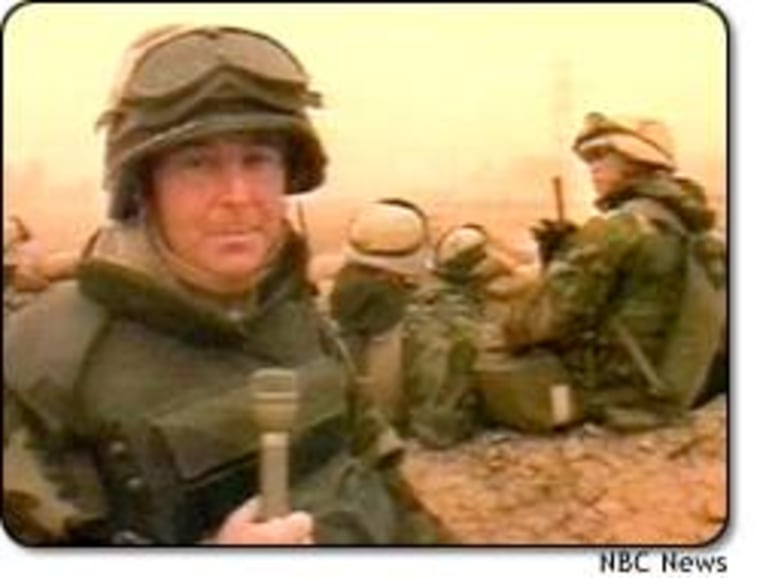 NBC News journalists like Kerry Sanders had unprecedented access to the battle front in Iraq.