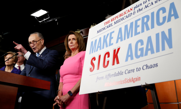 Image: Pelosi and Schumer talk about the Affordable Care Act in Washington