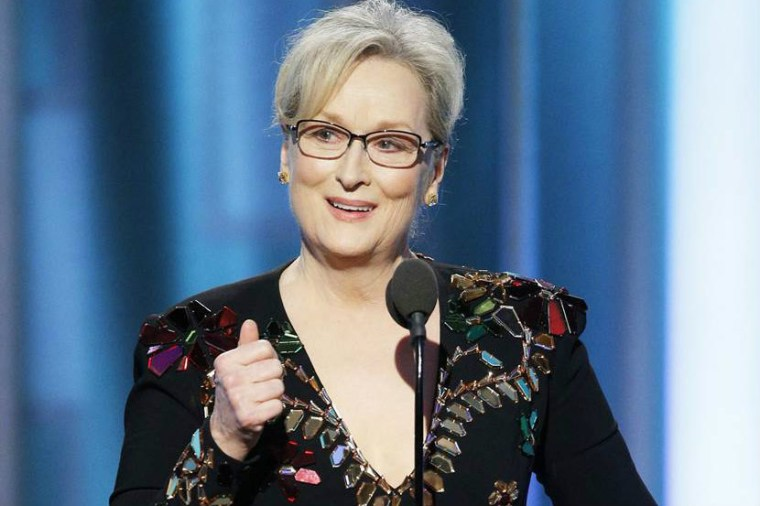 Meryl Streep accepts the Cecil B. DeMille Award during the 74th Annual Golden Globe Awards