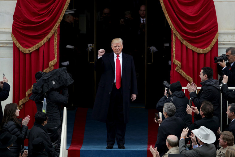 President Elect Donald Trump arrives on the West Front of the U.S. Capitol on Jan.20, 2017 in Washington, DC. In today's inauguration ceremony Donald J. Trump becomes the 45th president of the United States. (Photo by Alex Wong/Getty Images)
