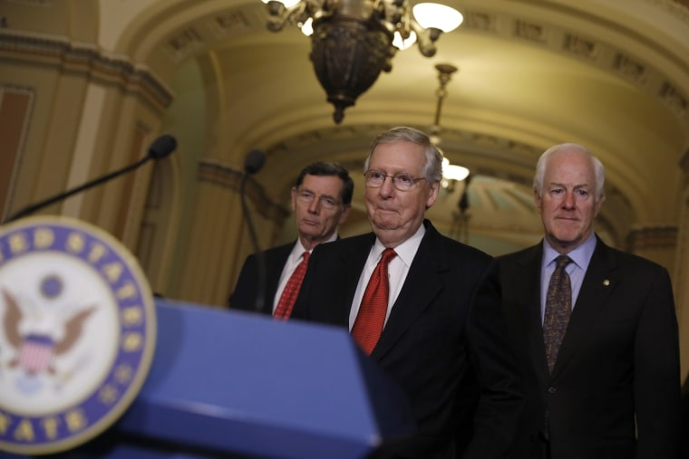 Image: Senate Republicans Address The Press After Their Weekly Policy Luncheon