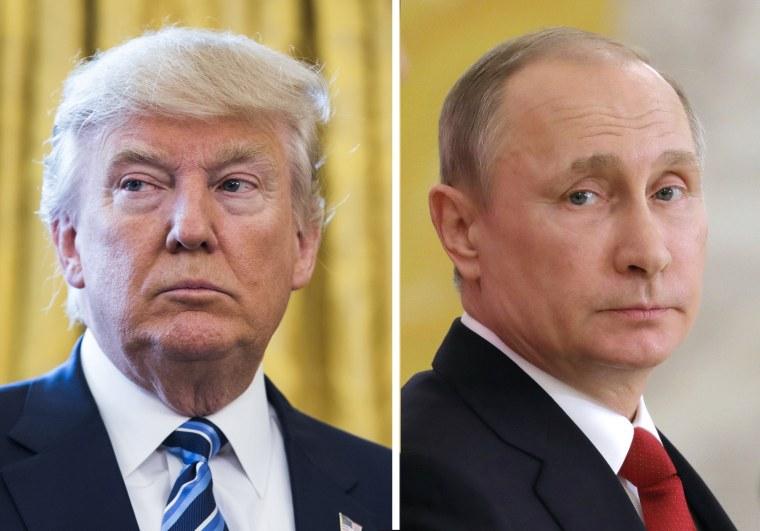 Image: Russian President Vladimir Putin responds to US President Donald Trump ordering missile strikes on Syria