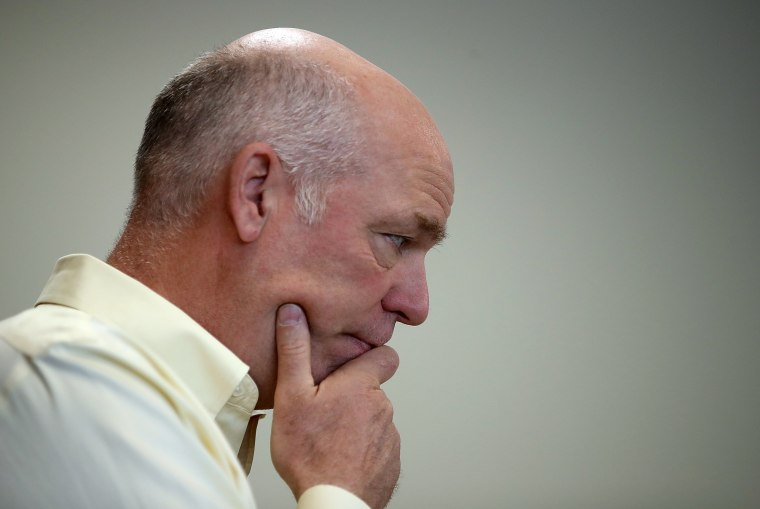 Image: GOP Candidate In Montana's Special Congressional Election Greg Gianforte Campaigns In Missoula