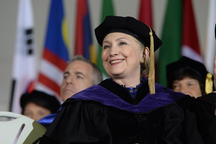 Image: Hillary Clinton Delivers Commencement Address At Wellesley College