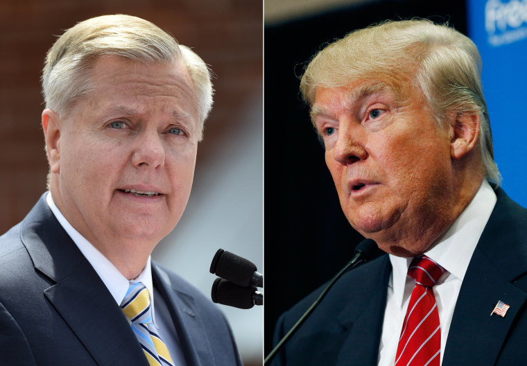 Image: Lindsey Graham; Donald Trump