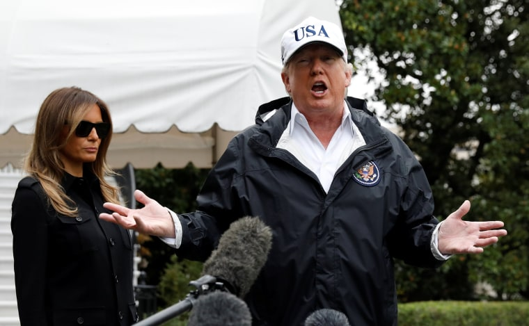 Image: Trump speaks before departing Washington for Florida