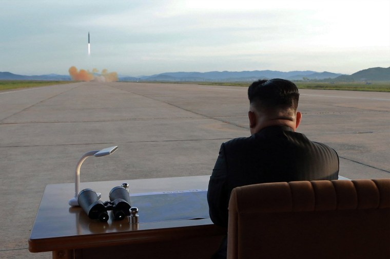 Image: Kim Jong Un attends launching of ballistic missile Hwasong-12