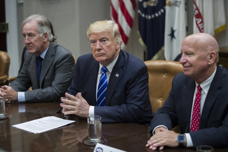 Image: US President Donald J. Trump meets with members of the House Ways and Means Committee