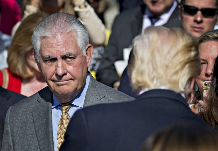 Image: US Secretary of State Tillerson rebukes resignation reports