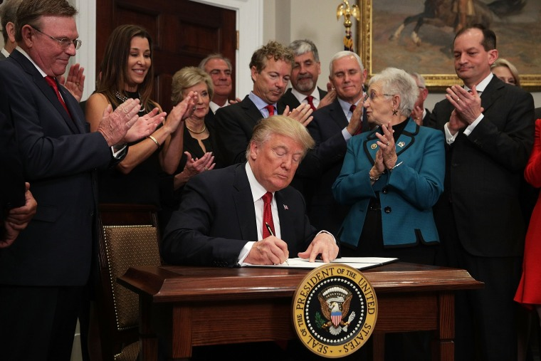 Image: President Trump Signs Executive Order To Promote Healthcare Choice