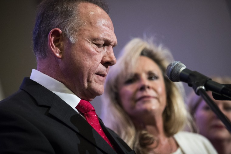 Image: Embattled GOP Senate Candidate In Alabama Judge Roy Moore Continues Campaigning Throughout The State