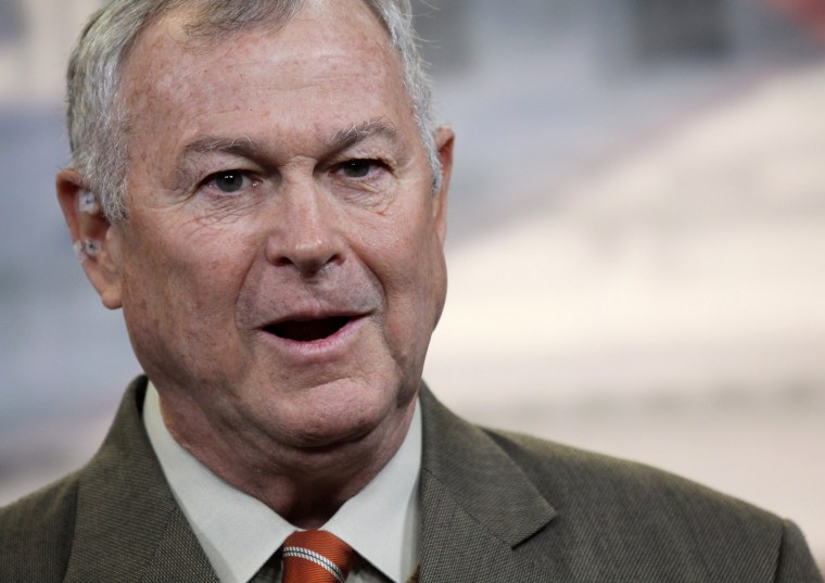 In this Nov. 13, 2013 file photo, Rep. Dana Rohrabacher, R-Calif. speaks during a news conference on Capitol Hill in Washington.