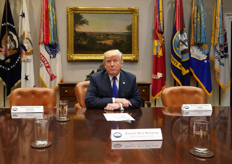 U.S. President Donald J. Trump speaks to the media during a meeting with congressional leadership in the Roosevelt Room at the White House, in Washington, D.C., November 28, 2017.