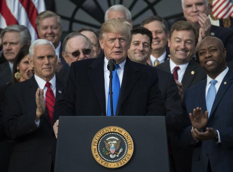 Image: Donald Trump, Paul Ryan, Mike Pence