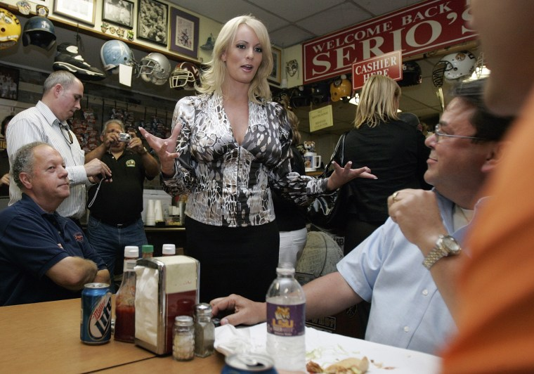 Stormy Daniels visits a local restaurant in downtown New Orleans, Wednesday, May 6, 2009.
