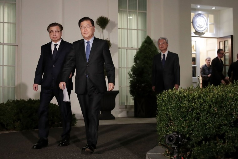 Image: South Korean National Security Advisor Makes Announcement At White House
