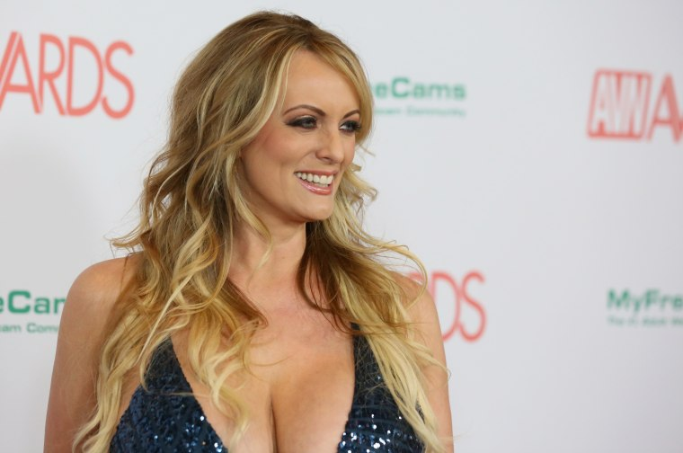 Adult film actress/director Stormy Daniels attends the 2018 Adult Video News Awards at the Hard Rock Hotel & Casino on January 27, 2018 in Las Vegas, Nevada.