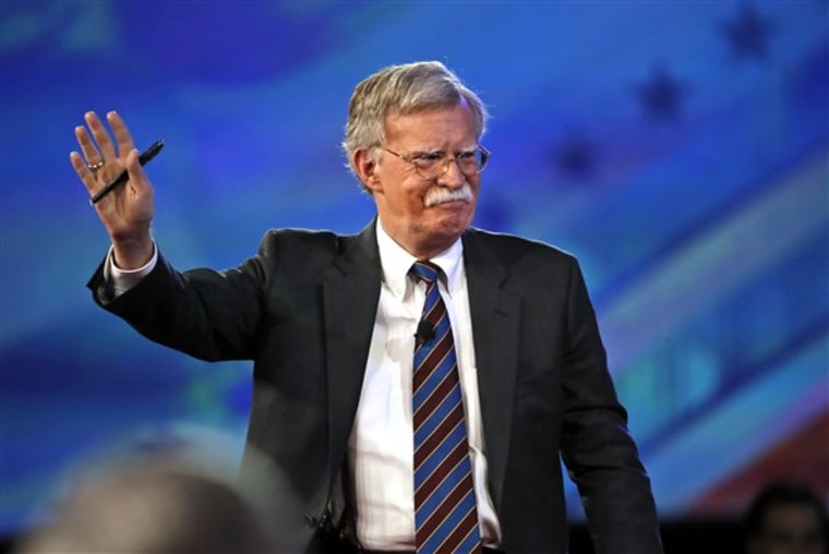 Former U.S. Ambassador to the UN John Bolton arrives to speak at the Conservative Political Action Conference (CPAC), on Feb. 24, 2017, in Oxon Hill, Maryland.