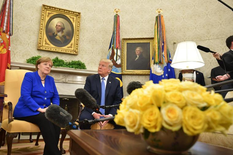 Image: US-GERMANY-TRUMP-MERKEL