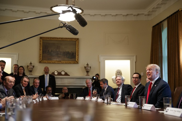 President Donald Trump speaks during a meeting with Republican members of Congress on immigration in the Cabinet Room of the White House, Wednesday, June 20, 2018, in Washington.