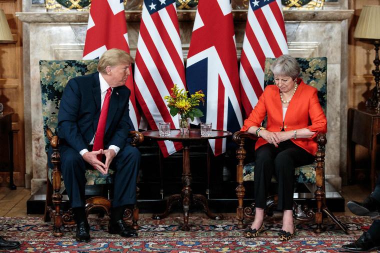 Image: BRITAIN-US-DIPLOMACY-TRUMP
