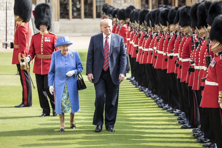 Image: The President Of The United States And Mrs Trump Meet HM Queen
