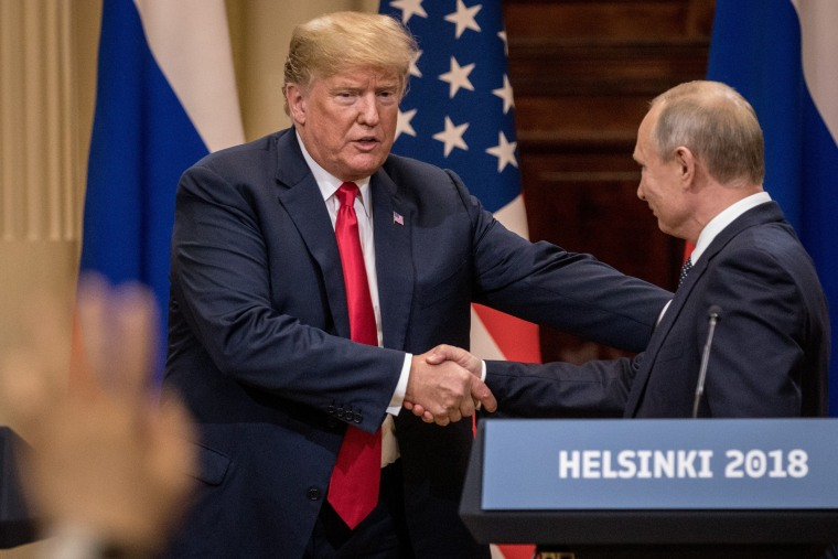 Image: President Trump And President Putin Hold A Joint Press Conference After Summit