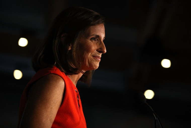 Image: Arizona GOP Senate Candidate Martha McSally Attends Primary Night Event In Tempe