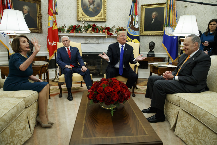 Donald Trump, Nancy Pelosi, Chuck Schumer, Mike Pence