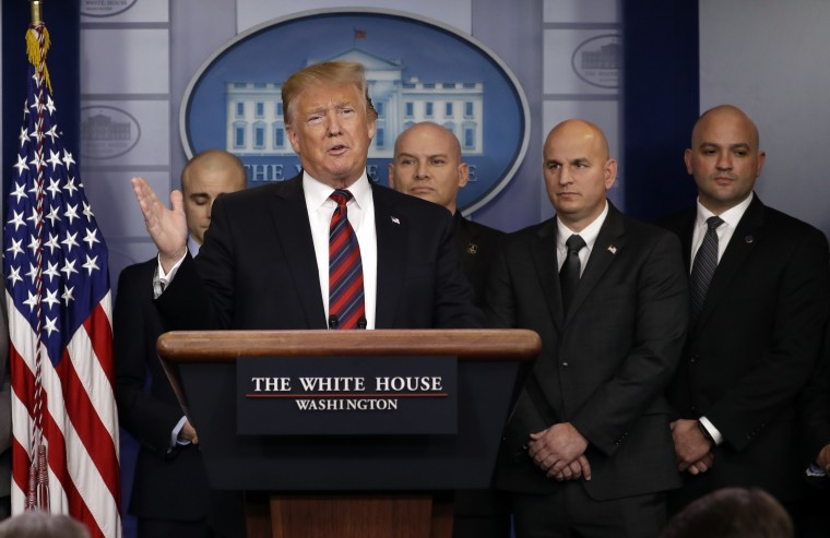 President Donald Trump speaks in the press briefing room at the White House, Thursday, Jan. 3, 2019, in Washington.