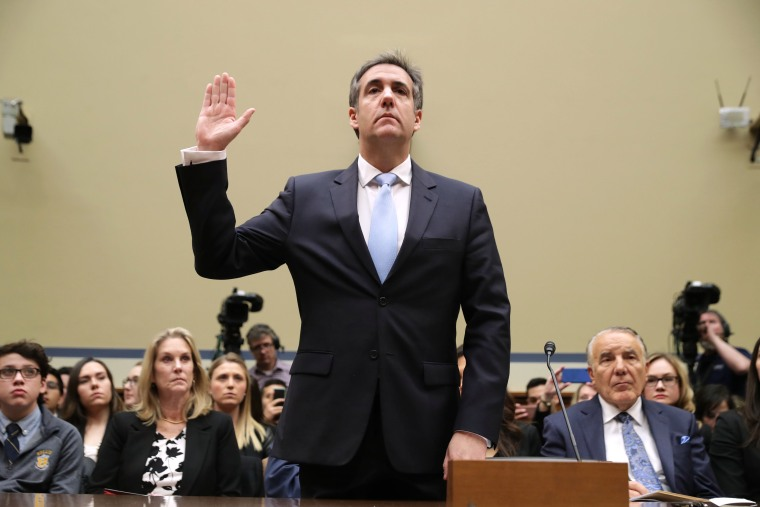 Michael Cohen, former attorney and fixer for President Donald Trump, testifies before the House Oversight Committee on Capitol Hill, February 27, 2019 in Washington, D.C.