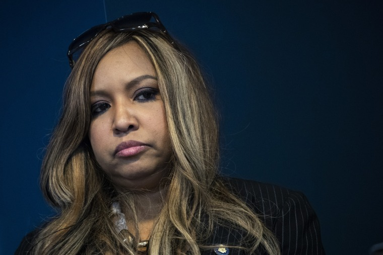 Lynne Patton, event planner and Head of Region II for HUD during a press conference at the Jacob Javits Federal Building, January 31, 2019 in New York City.