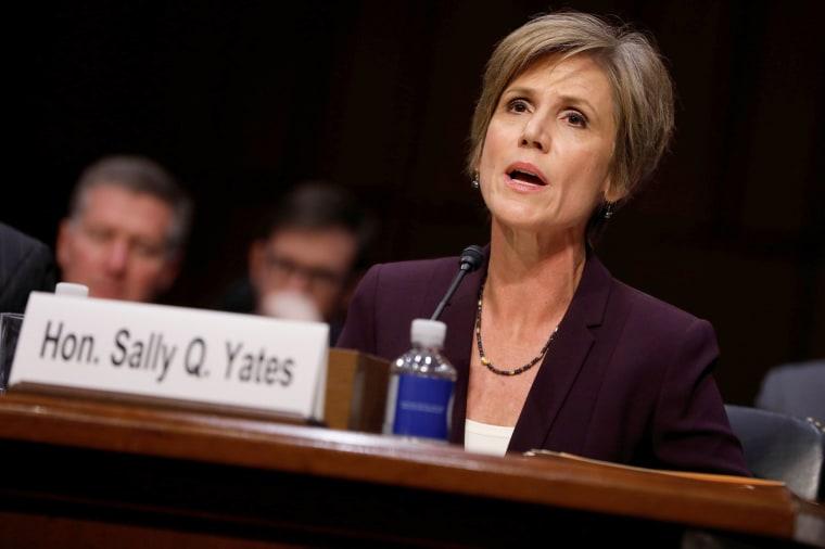 Image: Former Acting Attorney General Sally Yates Testifies